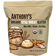 Anthony's Organic Vital Wheat Gluten, 2 lb, High in Protein, Vegan, Non GMO, Keto Friendly, Low Carb