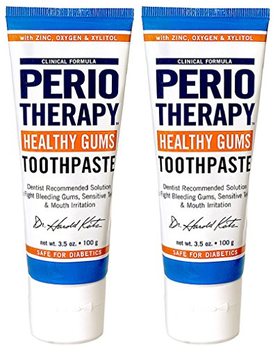 TheraBreath Dentist Recommended PerioTherapy Healthy Gums Toothpaste, 3.5 Ounce (Pack of 2)