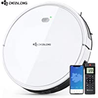 PAVLIT Dealdig Robot Vacuum Cleaner, 1200Pa Strong Suction, Mute Technology, Self-Charging Robotic Vacuum Cleaner with 4 Control Modes Include Voice and APP Control
