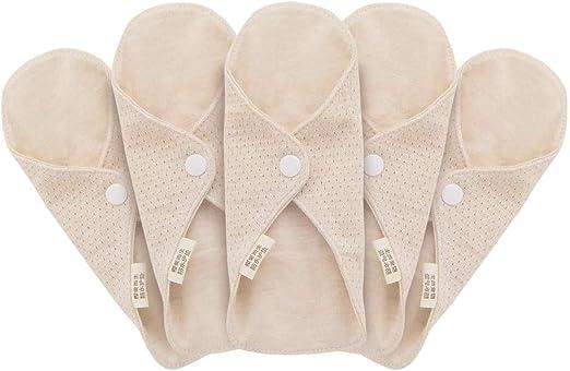 MQUPIN toallas sanitarias reutilizables de algodón orgánico para ...