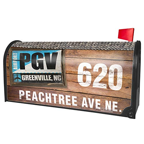 NEONBLOND Custom Mailbox Cover Airportcode PGV Greenville, -