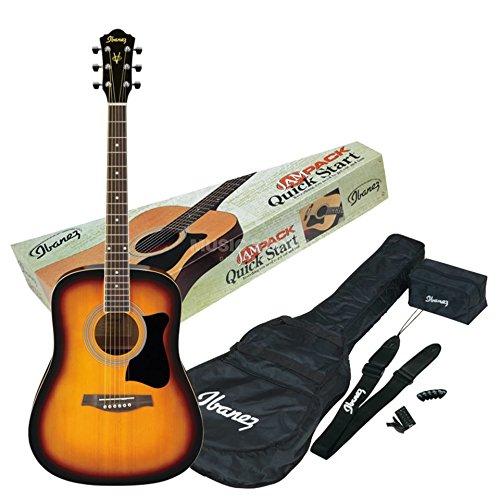 Acoustic Guitar Starter Jam Pack - Vintage Sunburst
