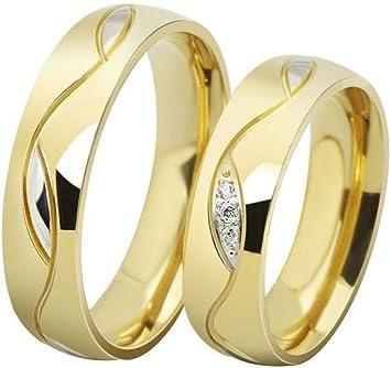 weidan jewelry Los Nuevos Anillos De Los Anillos De Pareja De Boda Anillos De Compromiso Oro Al Por Mayor 025 (5, Men)