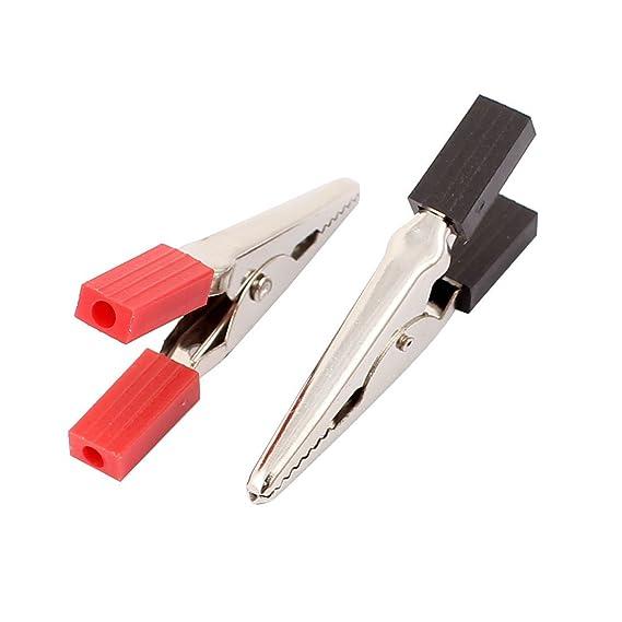 Laboratorio de plástico eDealMax Handle prueba de potencia Aislar cocodrilo clip de conexión 50x22x7mm 6 pares - - Amazon.com