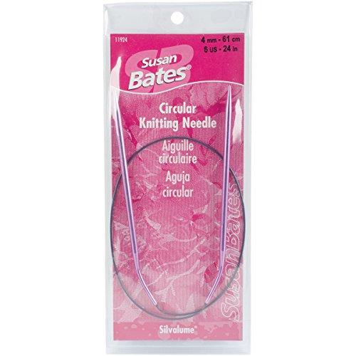 Susan Bates 24-Inch Silvalume Circular Knitting Needle, - Silvalume Circular Needles Bates Knitting