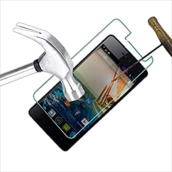 Acm Tempered Glass Screenguard Compatible with Micromax Canvas Knight A350 Mobile Screen Guard Anti Scratch Proof Protector Screen guards