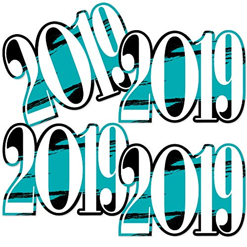 Teal Grad 2019 - Best is Yet to Come - 2019 Decorations DIY Turquoise Graduation Party Essentials - Set of 20]()
