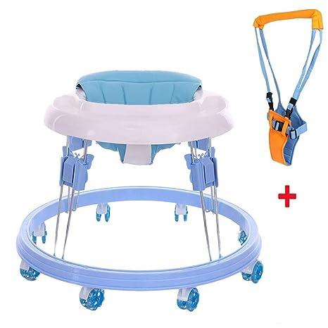 FLWVDFG Andador BebéS Antivuelco Andador, Andador Plegable ...