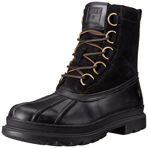 FRYE Riley D Ring Men's Waterproof Shearling Duck Boots, Black, 11 M US