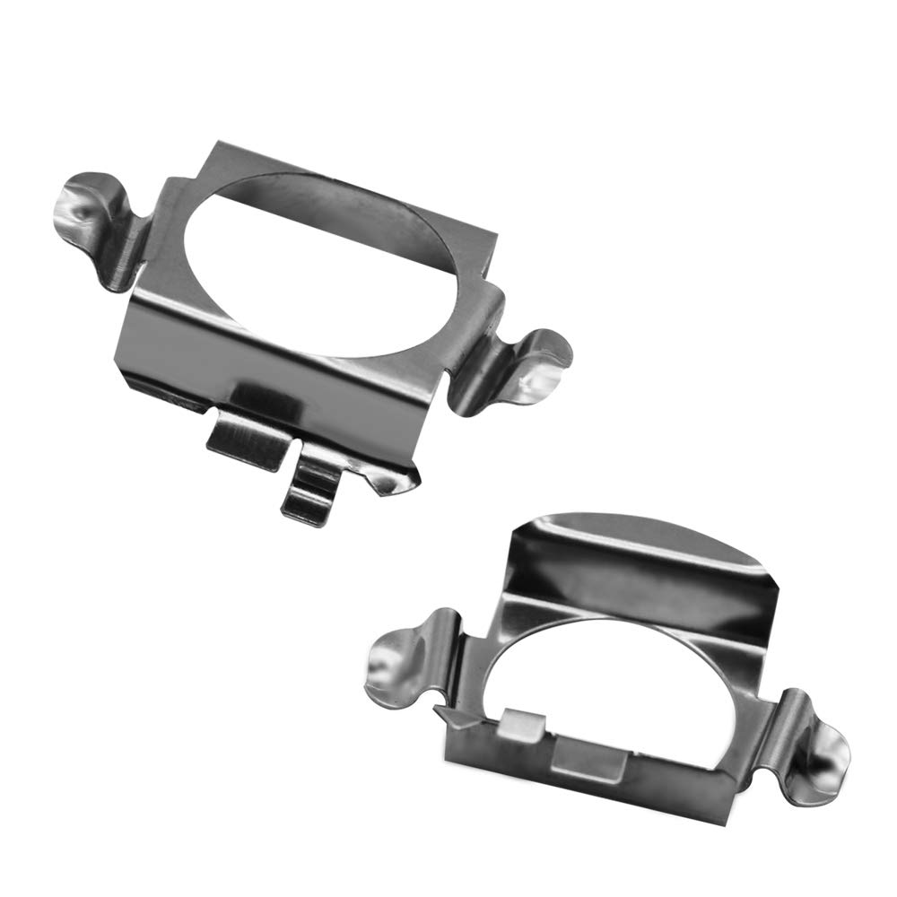 GZXY H7 LED Headlight Bulb Clips Holder Socket Adapter for Mercedes-Benz C300 C350 Sport CLS Ford Edge Installation 2pcs HIDLED-NEWSOCKET- Mercedes-Benz