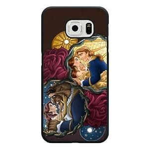Galaxy S6 Edge Case, Customized Black Hard Plastic Galaxy S6 Edge Case, Disney Beauty and The Beast Galaxy S6 Edge Case(Not Fit Galaxy S6)