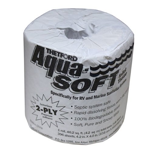 Thetford 24033 Aqua-Soft Single Roll 2-Ply Toilet (2 Ply Single)