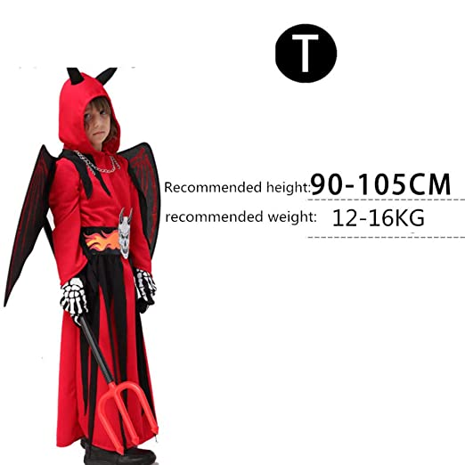 FesiAq Halloween Cosplay Little Devil Death Vampire Disfraz de ...