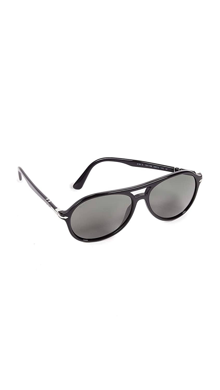 c1c49ddc5d35 Amazon.com: Persol Men's PO3194S Polarized Sunglasses, Black/Green, One  Size: Clothing