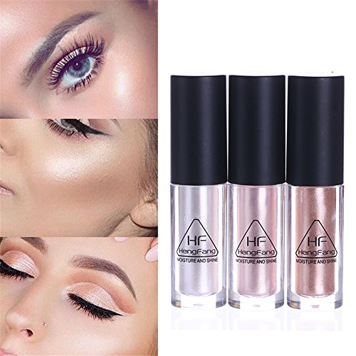 NICOLE DIARY 3 Colors Glow Shimmer Liquid Highlighter Moisture Shine Makeup Face Eye Contour Brightener Concealer