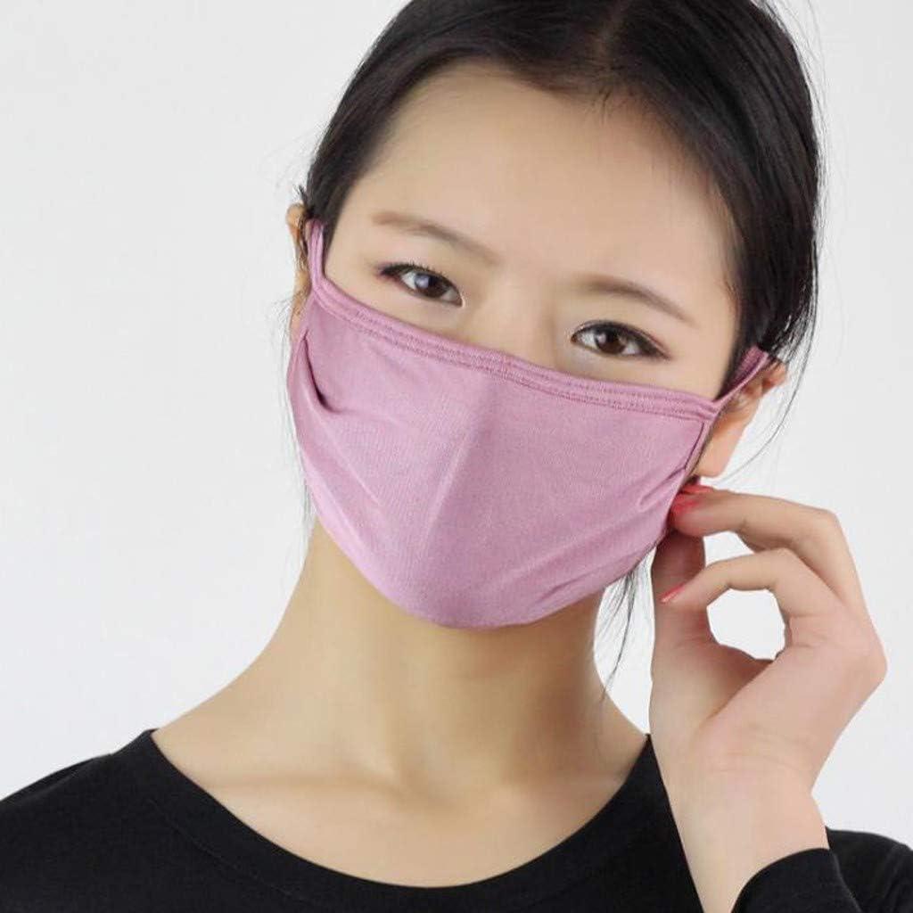 Women Reusable Silk M/ásk Double Layer Anti-dust Pollution Safety M/ásk Air Filtration M/ásk Purple