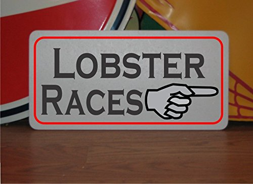 LOBSTER RACES Metal Sign for Louisiana Bar Party ()