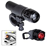 Front - Rear Security Safety Light Accidental Protection Sport Gear 3 Style Light H-L-SOS Zoomable in/out Widely used for bicycle or outdoor activities W/Flexible holder Sport Gift BKLG-5