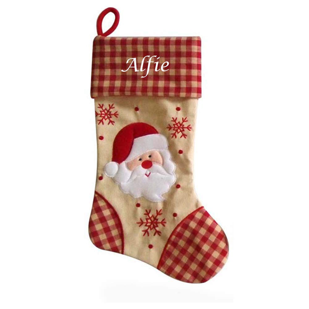 Babys First Christmas 2018 Reindeer or Snowman Personalised  Bib stocking filler