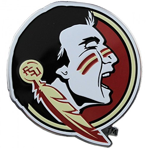 NCAA Florida State University Seminoles Chrome Auto Badge Decal Collegiate Florida State University