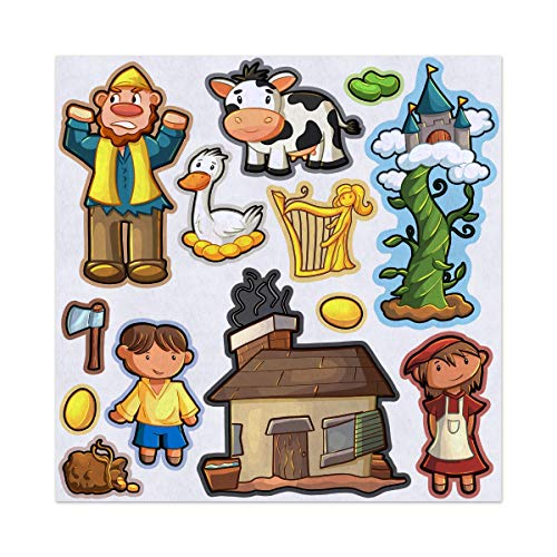 (Jack and the Beanstalk Story Adventure Felt Play Art Set Flannel Board Story Storyboard Pieces)