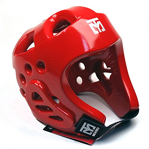 Mooto WTF Approved Taekwondo Head Gear 3color S to XL (Red, 3.L)