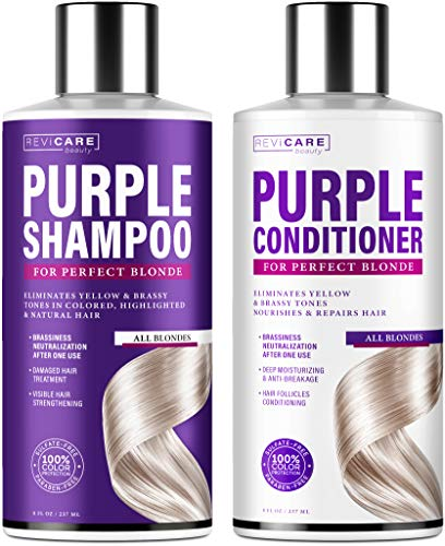 Purple Shampoo and Conditioner Set -