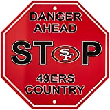 "Fremont Die NFL San Francisco 49ers Stop Sign, 12"" x 12"", Multicolor"