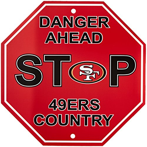 Fremont Die NFL San Francisco 49ers Stop Sign, 12
