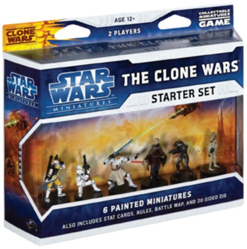 The Clone Wars Starter: A Star Wars Miniatures Game Starter from Wizards of the Coast