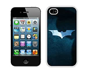Hot Sale And Popular iPhone 4 4S Case Designed With Batman Shadow White iPhone 4 4S Phone Case