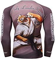Cody Lundin Rash guard for Men, BJJ Tiger: Amazon com