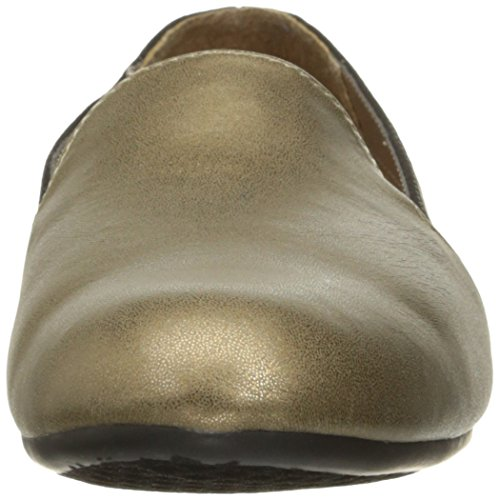Aerosoles A2 Damen Gut Call Slip-On Loafer Schwarz / Gold-Kombination