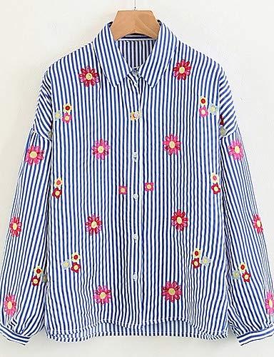 floreale Camicia YFLTZ Blue da camicia a donna Collo zdTYwq