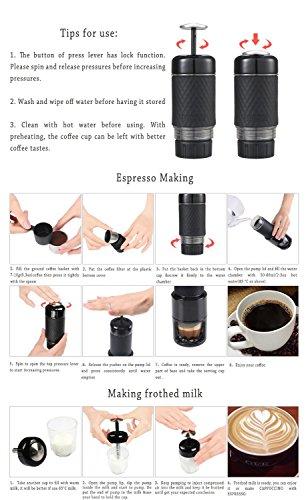 Staresso Coffee Maker with Espresso, Cappuccino, Quick Cold Brew All in One (Matte Black)