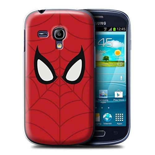 STUFF4 Phone Case / Cover for Samsung Galaxy S3 Mini / Spider-Man Mask Inspired Design / Super Hero Comic Art - S3 Case Galaxy Spiderman Samsung