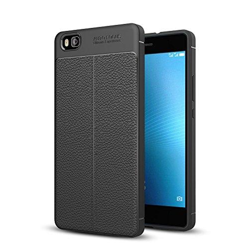 TianTa Funda Huawei P8 Lite Ajuste Perfecto Estuche Ultra Delgado Diseño de TPU Caucho y PU Cuero para Huawei P8 Lite 2015...