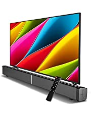 Soundbar 5.0 Bluetooth Speaker TV Audio Whispering Gallery, 20Wx2, TF Card Slot, Mobile Phones, Tvs, Tablets with Remote Control, Powerful Sound, RCA/AUX Support