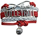 Volleyball Charm Bracelet - Infinity Love Adjustable Charm Bracelet...
