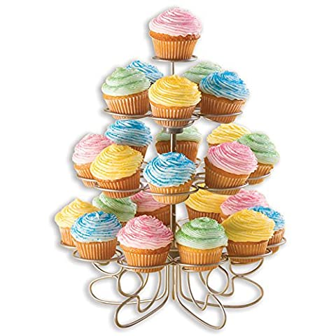 Cupcakes 'N More Mini Dessert Stand This Silver Finished Wire Stand Securely Holds 24 Mini Cupcakes