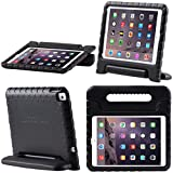 New iPad 9.7 2017 case, i-Blason New Apple iPad 9.7 inch 2017 Case for Kids [ArmorBox Kido Series] Lightweight Super Protective Convertible Stand Cover (Black)