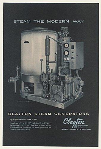 1960 Clayton Steam Generator Original Print Ad (47110) (Clayton Steam Generator compare prices)
