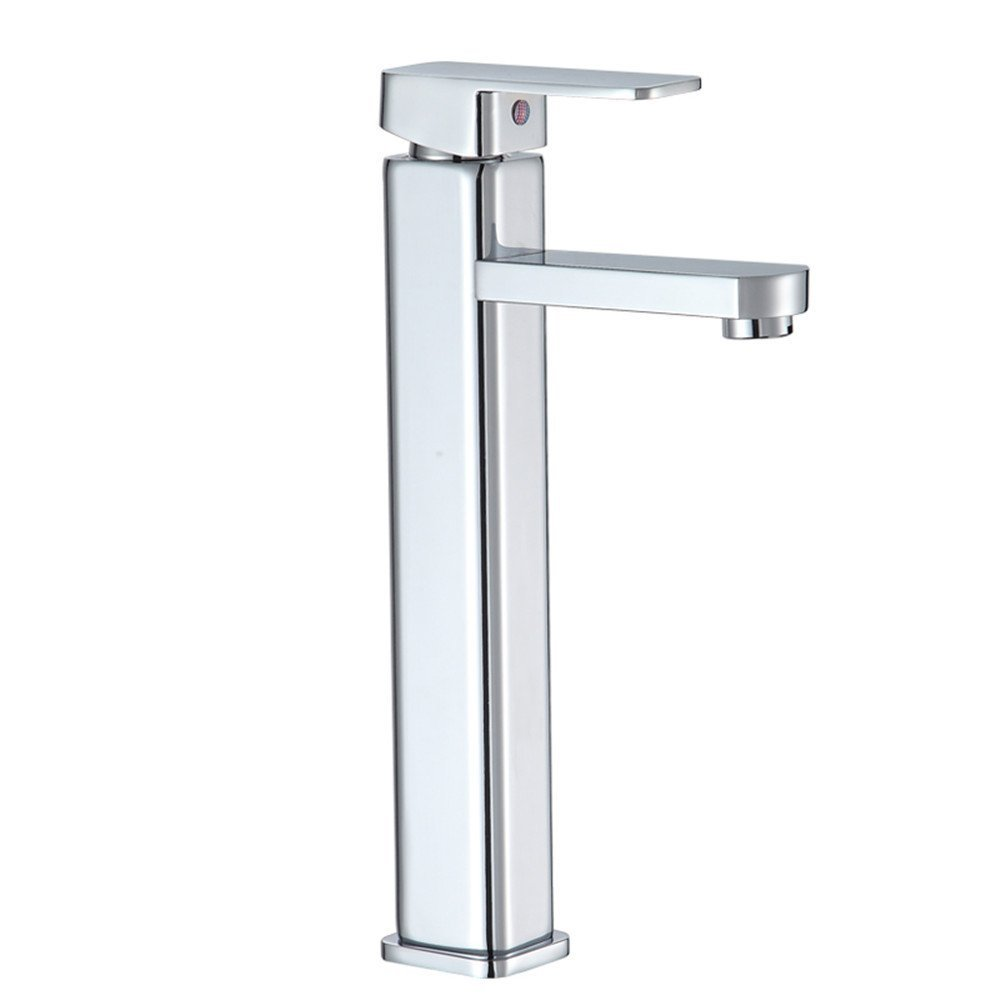 Decorry Cold and Hot Basin Faucet, Upper Basin Pots and Heightened Washbasin Faucet Ceramic Spool