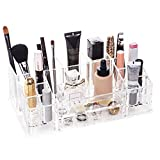 Best Pure Quality Makeup Brushes - Choice Fun Acrylic All-in-one Makeup Organizer 16 Compartments Review