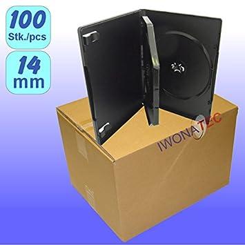 Nexpak M Lock - 3 DVD Cases 14 mm Black Pack of 100: Amazon