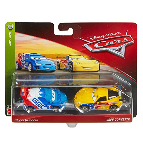 Disney Cars Character Jeff Gorvette & Raoul Toy Vehicle (2 Pack) from Disney