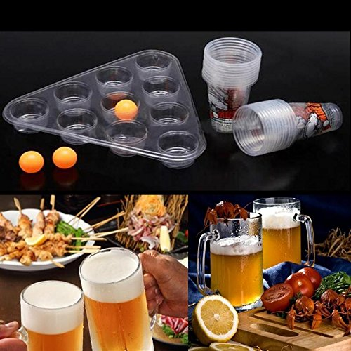 (Katoot@ Party Ultimate Bombed Beer Pong Fun Kit 22 Cups 3 Balls For Adult Table Top Board Games Drinking Game Pub Bar BBQ)