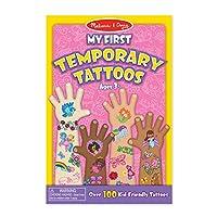 Melissa y Doug Mis primeros tatuajes temporales: más de 100 tatuajes para niños: arco iris, hadas, flores y más
