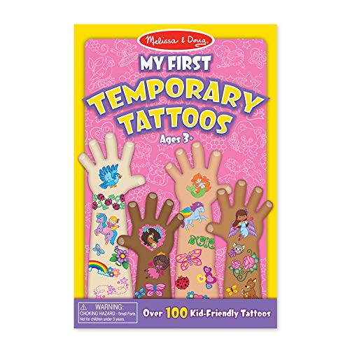 Melissa & Doug My First Temporary Tattoos: 100+ Kid-Friendly Tattoos - Rainbows, Fairies, Flowers, and More]()