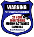 "6 ""REAL"" Blue Burglar Alarm Video Surveillance Security Decals Door & Window Stickers"